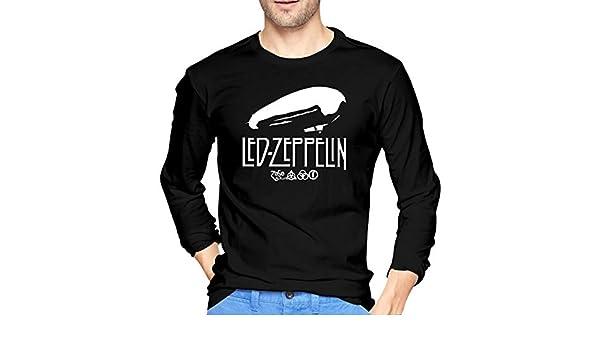 Longshun Led Zep-pelin Graphic - Camiseta de Manga Larga para Hombre (algodón) - Negro - Medium: Amazon.es: Ropa y accesorios
