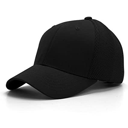 Amazon.com  U-FIT FLEX FIT MESH BLACK HAT CAP HATS SIZE S M  Sports    Outdoors 221d41eb553