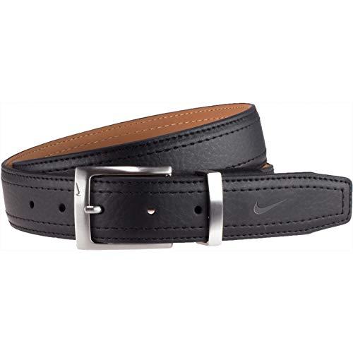 Nike Men's Standard G-Flex Pebble Grain Leather Belt, black, 38 from Nike