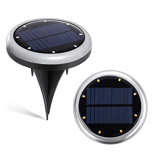 Solar Pathway Lights,KakuFunny Upgraded Solar Ground Lights 8 LED Waterproof LED Solar Lights for Garden Outdoor Pathway Patio Yard in-Ground Lawn Yard Deck Walkway Driveway