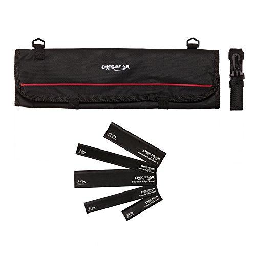 Ergo Chef 1009/4450 9 Pocket Professional case roll Bag Black Knife Edge Guards Chef Gear (Ergo Chef Knife Bag)