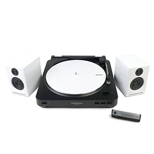 Audio-Technica: AT-LP60BK Turntable + Audioengine A2+ Speaker Package - White