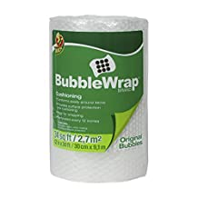 Duck Brand Bubble Wrap Original Protective Packaging, 12 Inches Wide x 30 Feet Long, Single Roll (393251)