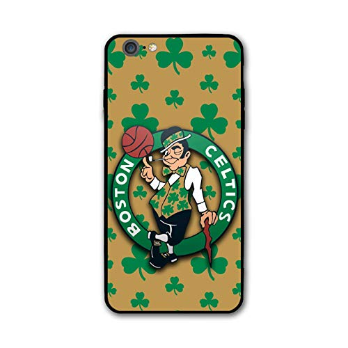Customevader Phone Case for iPhone 7 iPhone 8, Ultra-Thin Printed Acrylic Rear Panel Shockproof Anti-Scratch, with Soft TPU Bumper Military Cover for iPhone 7/8 Only 4.7 inches (Celtics-Shamrock) (Shamrock Phone Case)