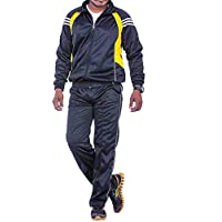 Black Sports Regular fit Unisex Polyester Superpoly Tracksuit