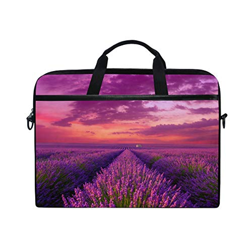 Lavender Field Laptop Tablet Bag Tote Briefcase Computer Case Handbag Men Women -