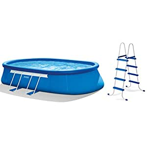 intex oval frame pool set 20 feet by 12 feet by 48 inch discontinued by. Black Bedroom Furniture Sets. Home Design Ideas