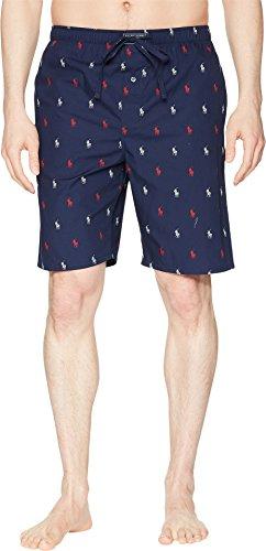 Polo Ralph Lauren Men's All Over Pony Print Sleep Shorts Cruise Navy/Red & White Piping/Rl2000 Red Aopp - Ralph Shorts Polo Mens Lauren