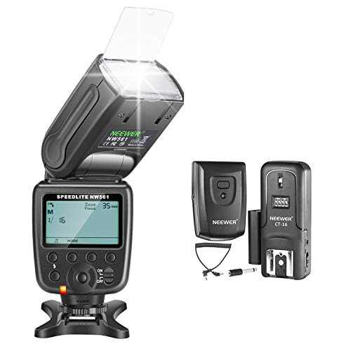 Neewer NW-561 GN38 Manual LCD Display Speedlite Flash Kit for Canon Nikon and Other DSLR Cameras