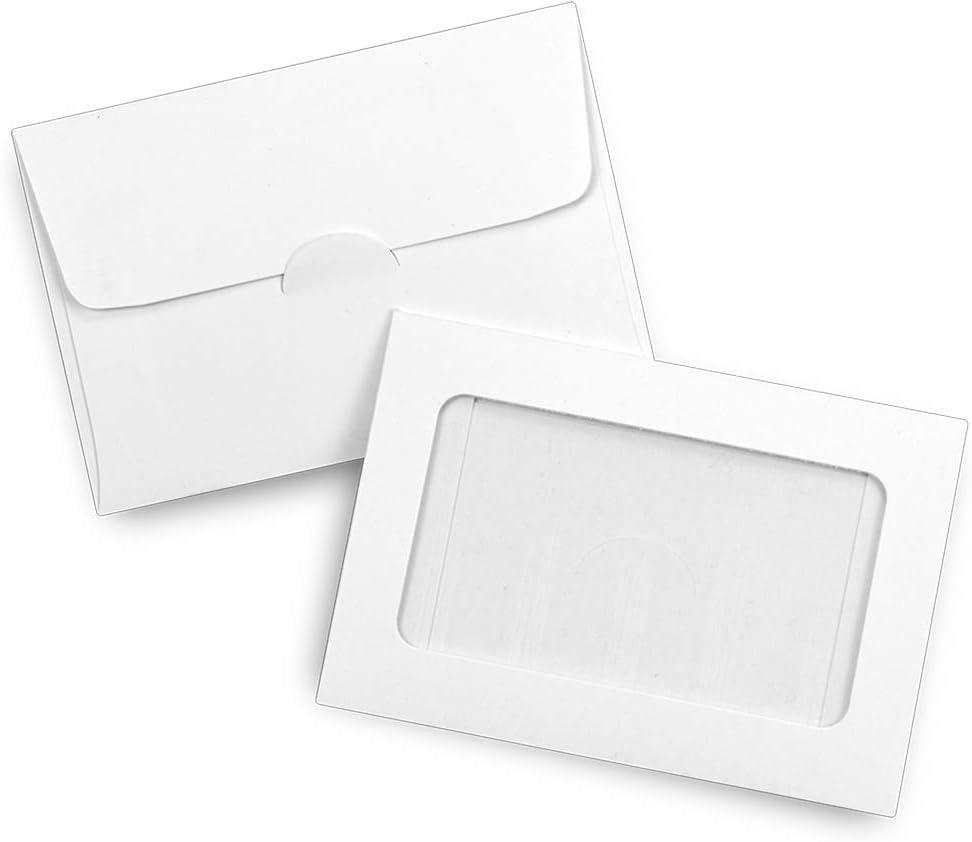 "Guardian Window Gift Card Envelopes, 2-1/2"" x 3-5/8"", White, 100/Box"