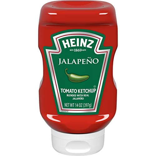 Heinz Ketchup with Jalapeno (14 oz Bottles, Pack of 6)