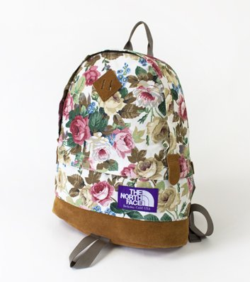 107ee0afd Amazon.com: THE NORTH FACE PURPLE LABEL Flower Print Medium Day Pack ...