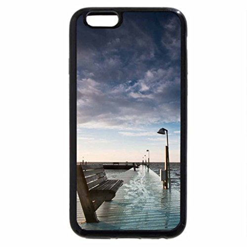iPhone 6S / iPhone 6 Case (Black) bench on a sea pier