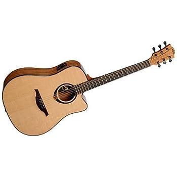 lag t70ace tramontane auditorium cutaway acoustic electric guitar bundle with hard. Black Bedroom Furniture Sets. Home Design Ideas