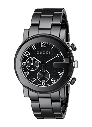 88a78d3312e Gucci Gucci G - Chrono Collection Analog Display Swiss Quartz Black Men s  Watch(Model YA101352)
