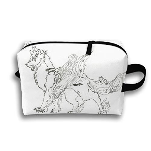 - Beauty Cosmetic Bag Sirius Printing Brush Organizer Hanging Storage Bag