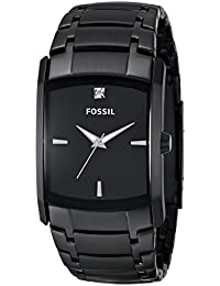 Mens Quartz Stainless Steel Dress Watch, Color:Black (Model: FS4159)