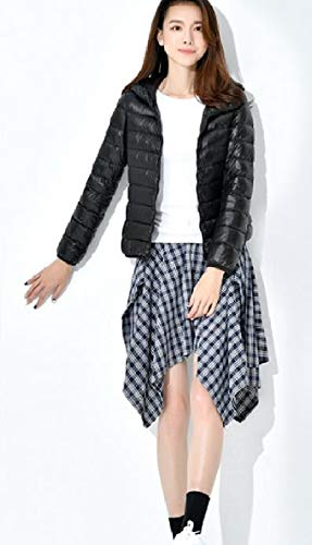 Nero Piumino Outwear Ultraleggero Ripiegabile Donne Delle Corto Cappuccio Puffer Xinheo w4qgaFza