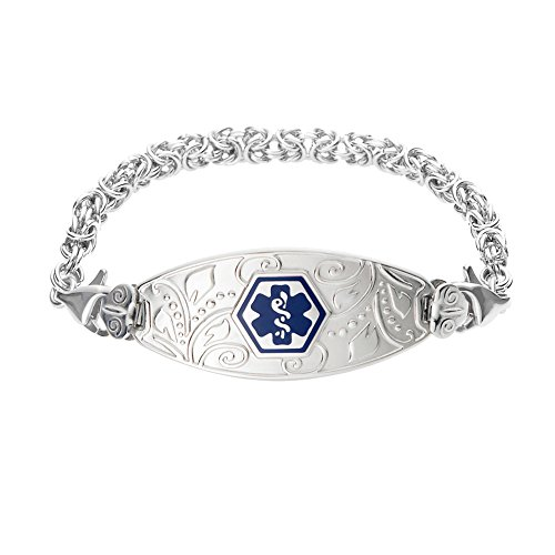 Divoti Custom Engraved Lovely Filigree Medical Alert Brac...