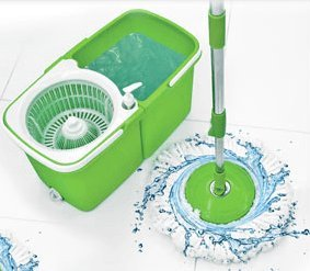 Big Boss InstaMop The Spinning Action Mop, Green