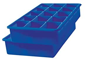 Tovolo Perfect Cube Ice Trays, Stratus Blue - Set of 2