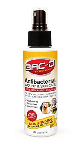 BAC-D 624 Animal Wound and Skin Care, Steroid Free, Non-Necrotizing, 4 oz.