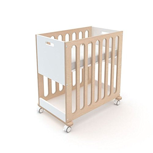 Oeuf Fawn Crib and Bassinet System White and Birch