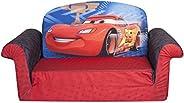 Marshmallow Furniture, Children's 2 in 1 Flip Open Foam Sofa, Disney/Pixar Disney Pixar Cars 2, by Spin Ma