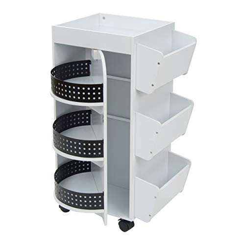 Studio Designs Swivel Organizer, White (Best Craft Room Designs)