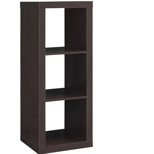 Better Homes and Gardens* Organizer Storage Bookshelf (Espresso, 3-Cube)