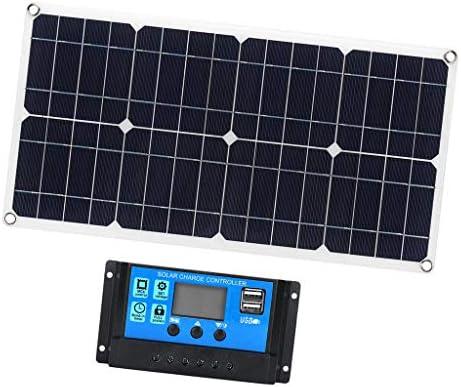 LOVIVER 30Watt Solarpanel Solarmodul Ladegerät mit 10A 12V Solarladeregler für Auto Boot Wohnwagen