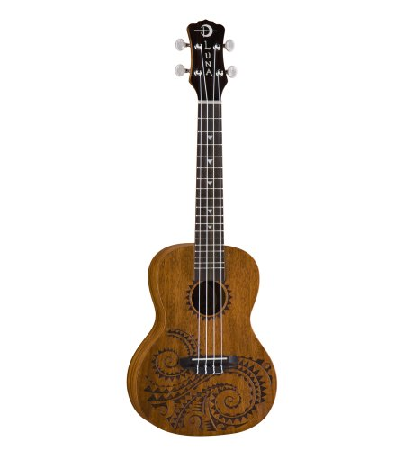 Luna Mahogany Series Tattoo Concert Acoustic-Electric Ukulele by Luna Guitars