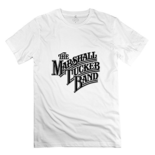 Crystal Men's The Marshall Tucker Band Pre-cotton Design T-Shirt White US Size XL (Band Tucker Shirt Marshall)