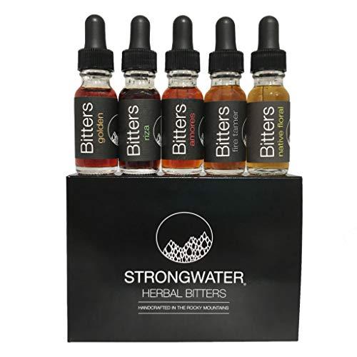 Strongwater | Herbal Cocktail Bitters Sample Box Gift Bundle | 5 Bottles (0.5 fl.oz. each)