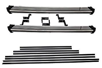KITT® RBMBW463 - Estribos laterales para correr + molduras para puerta, color negro: Amazon.es: Coche y moto