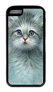 Blue Eyed Kitten Custom Personalized Design DIY Back Case for iphone 5c TPU Black -1210385