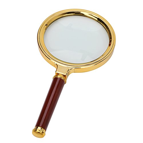 Magnifier Glass Made Handheld Magnifying Glass with 5X Illuminated Loupe Lens Detachable Red Wooden Handle for Seniors Reading Book Page Maps Hobbies Great Tool for Visual Impairment by LONTG (Image #7)