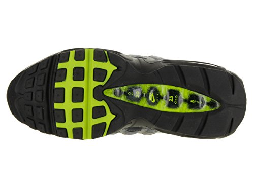 Nike Womens Air Max 95 Kjører Trenere 307960 Joggesko Sko Svart / Volt / Antrasitt