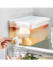 Beverage Dispenser Refrigerator Juice Bucket Cold Drink Container 100 Leak Proof - Wide Mouth Easy Filling - Drink Dispenser Beverage for Outdoor, Parties and Daily Use 3L