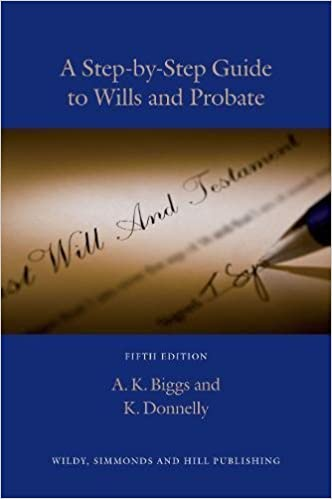 A step by step guide to wills and probate 5th edition amazon a step by step guide to wills and probate 5th edition amazon keith biggs kevin donnelly 9780854900831 books solutioingenieria Images