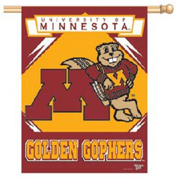 "NCAA Minnesota Golden Gophers Banner, 27""x37"", Team Color"