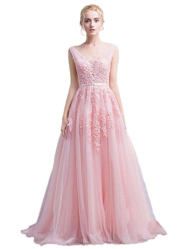 Partykleider Rosa Abendkleider Lang Spitze Mit Strass Ballkleider Mingxuerong BPYATgqP