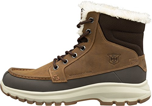Helly Hansen Men's Garibaldi V3 Waterproof Winter Snow Boot Warm with Grip, Tobacco Brown/Espresso/Natural, 9.5 (Best Snow Resorts In The World)