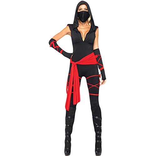 Hallowmax's Halloween Cosplay Masked female Ninja Undercover uniform