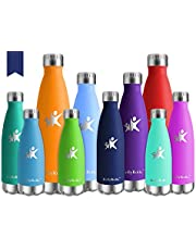 KollyKolla Vacuum Insulated Stainless Steel Water Bottle - BPA Free Drinks Bottles Leak-Proof Drinking Bottle, Hot & Cold Thermal Flask, for Kids & Adult, Sports, Gym, Yoga, 350ml/500ml/650ml/750ml
