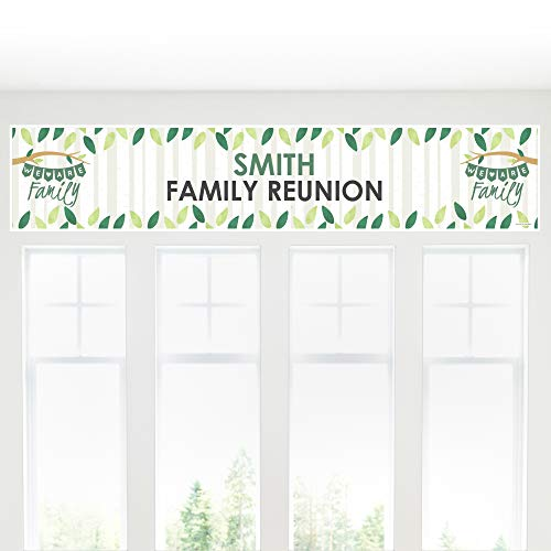 Big Dot of Happiness Personalized Family Tree Reunion - Custom Family Gathering Party Decorations Party Banner]()