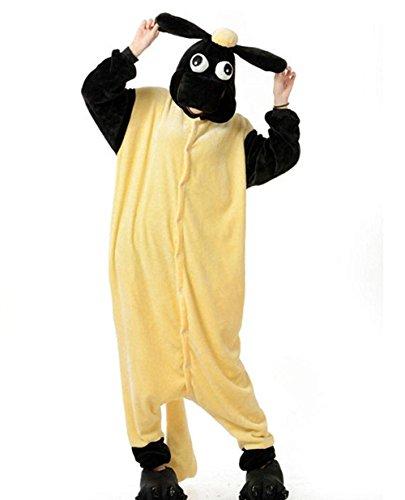 Tri-Better Shaun The Sheep Onesie Animal Pajamas Hooded Kigurumi Unisex Cosplay Costumes