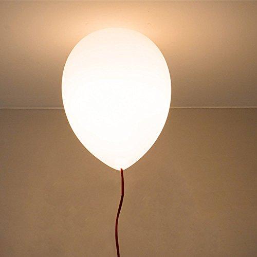 Moderno sombra Niños Espacio, Fiesta, Festival,globos de color Lámpara , Lámpara de techo,1 x E27,Ø 25 cm, 6 color (Amarillo, Azul, Color blanco, ...