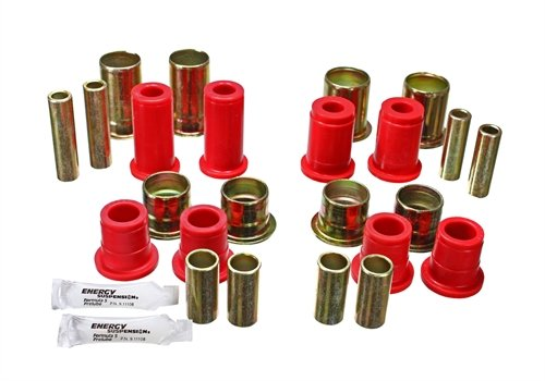 Energy Suspension 3-3156R Red Front Control Arm Bushing Set,