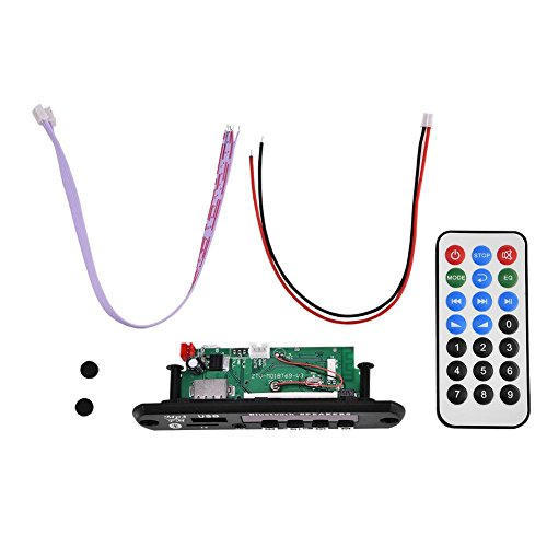 Bluetooth MP3 WMA Decoder Board 12V Wirelss Audio Module Support USB SD FM Hands-Free Call